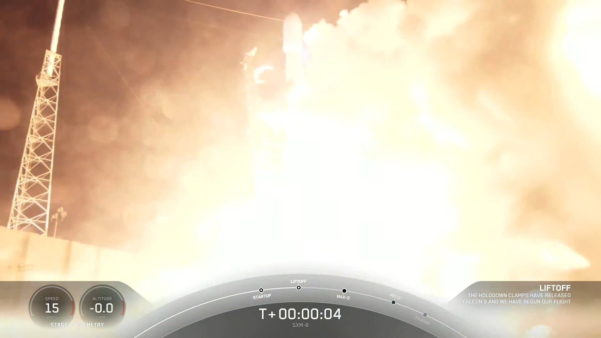 SpaceX launches Sirius XM with a successful midnight-hour take off