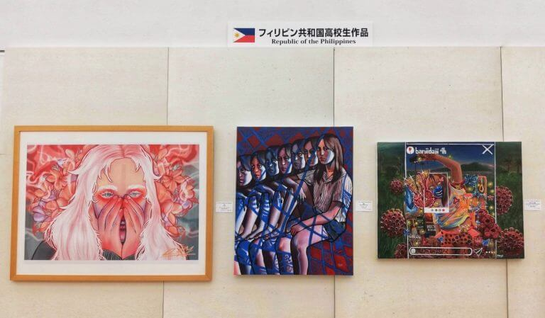 4 Filipino high school students' artworks featured in an art festival in Tokyo